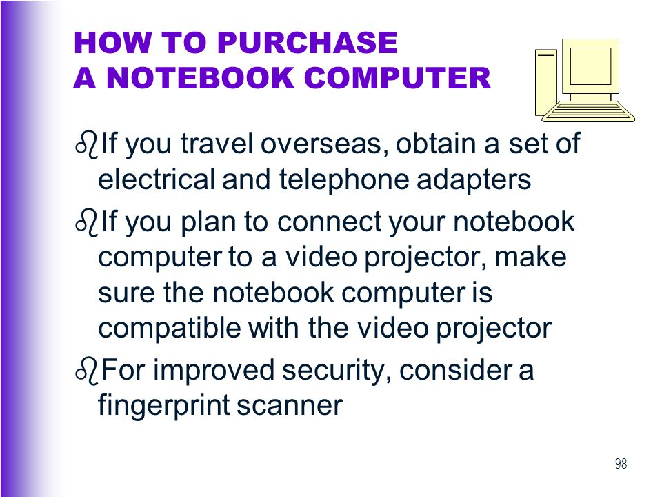 HOW TO PURCHASE A NOTEBOOK COMPUTER