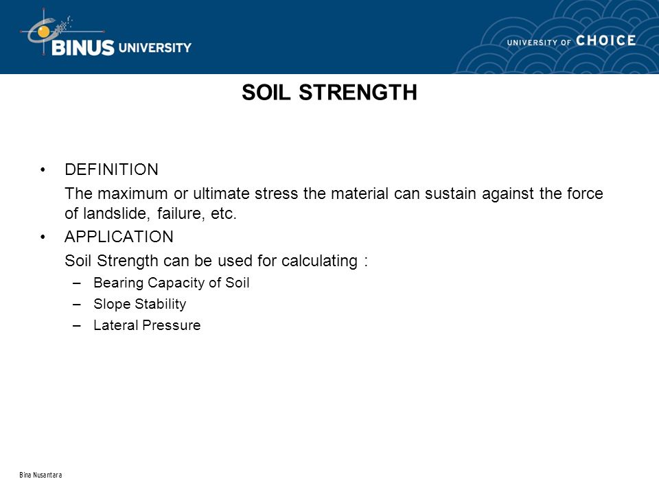 SOIL STRENGTH DEFINITION