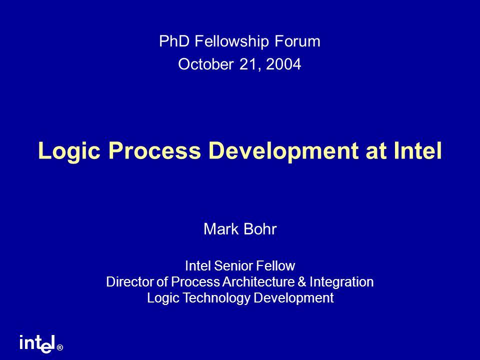 Logic Process Development at Intel
