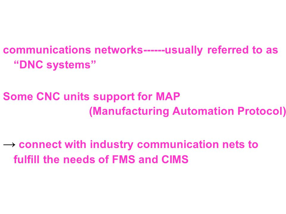 communications networks------usually referred to as DNC systems