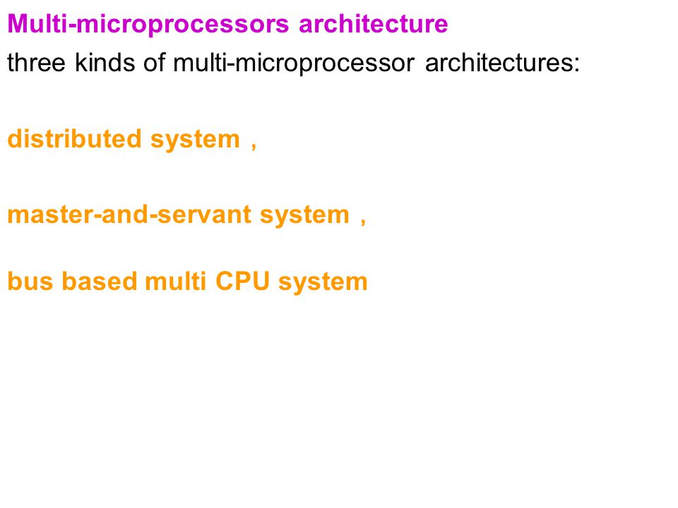 Multi-microprocessors architecture