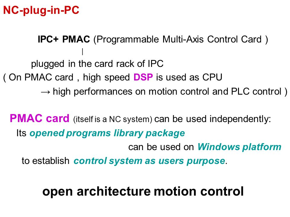 open architecture motion control