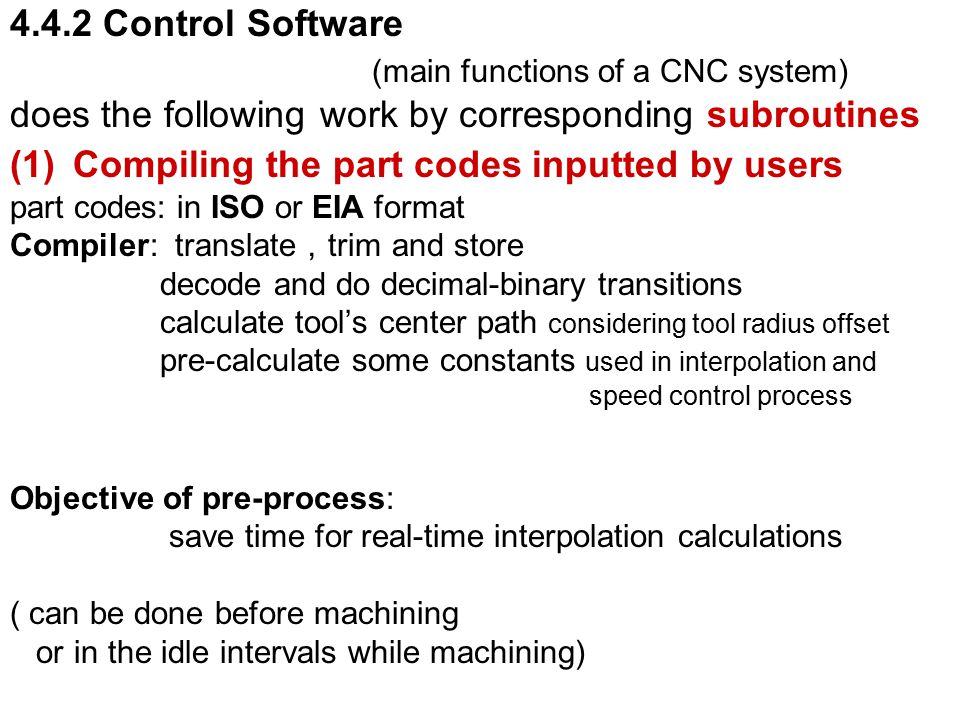 (main functions of a CNC system)