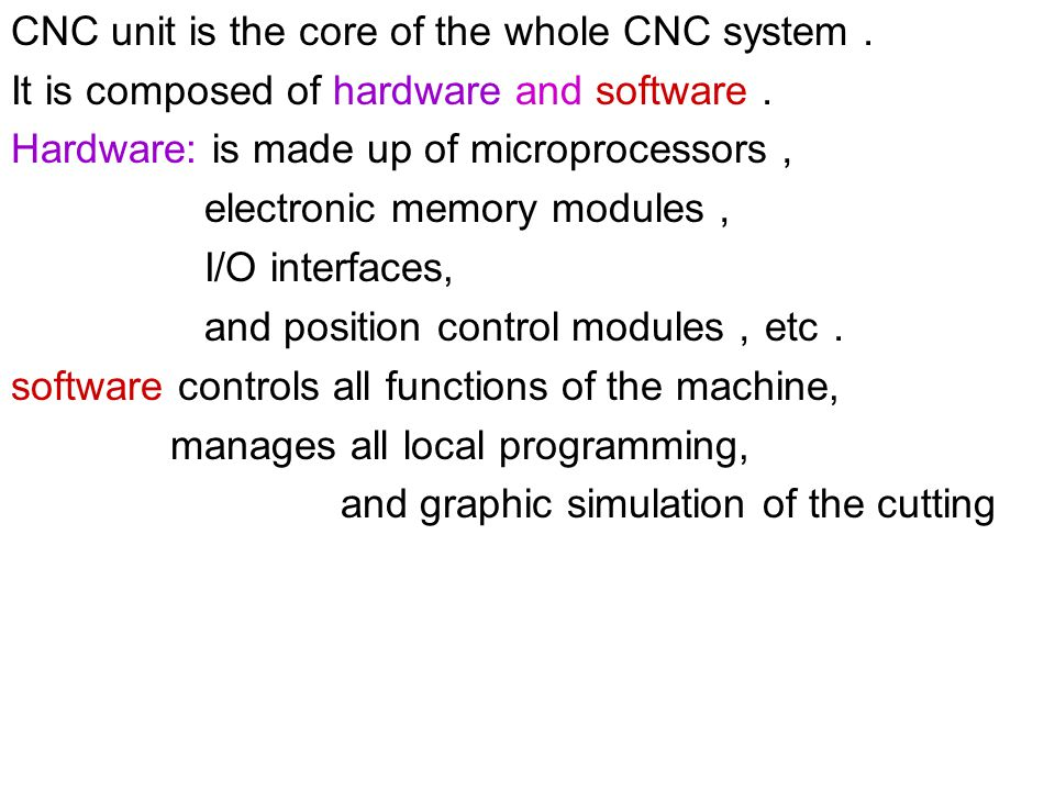 CNC unit is the core of the whole CNC system.