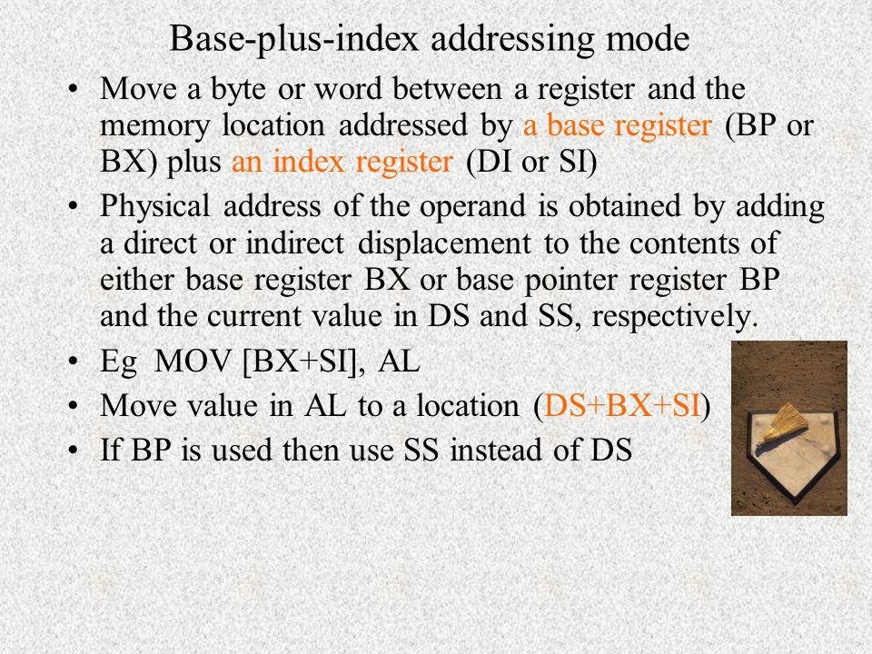 Base-plus-index addressing mode