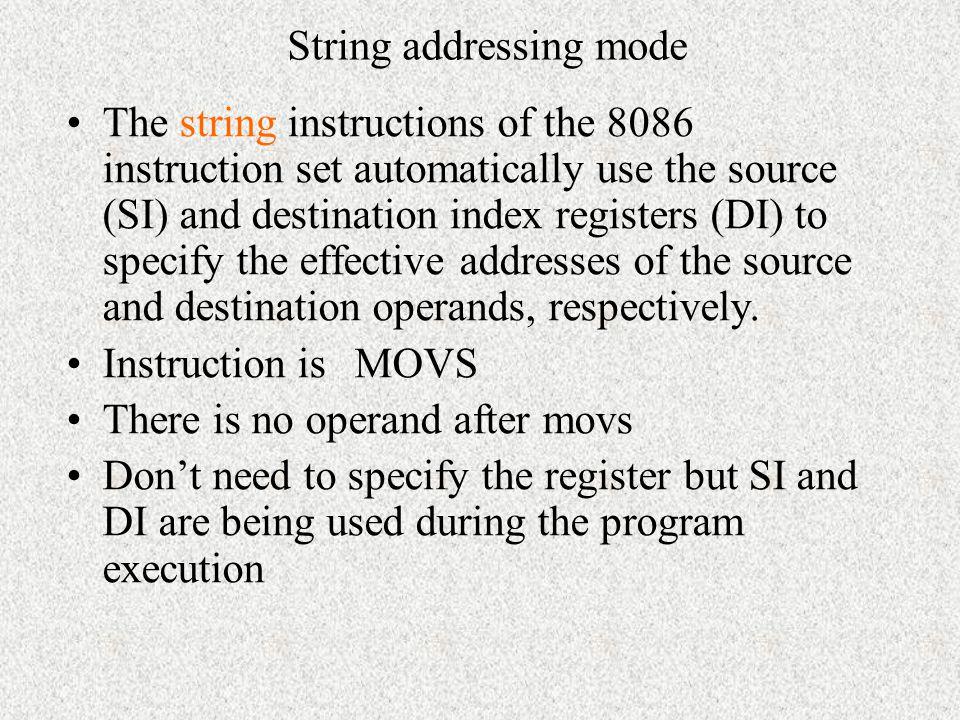 String addressing mode