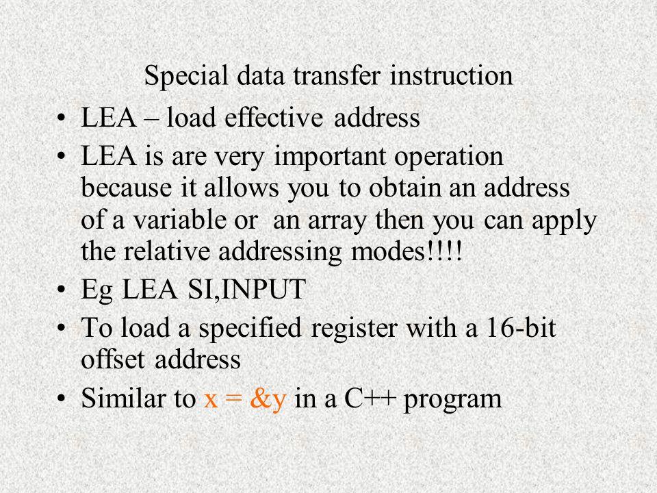 Special data transfer instruction