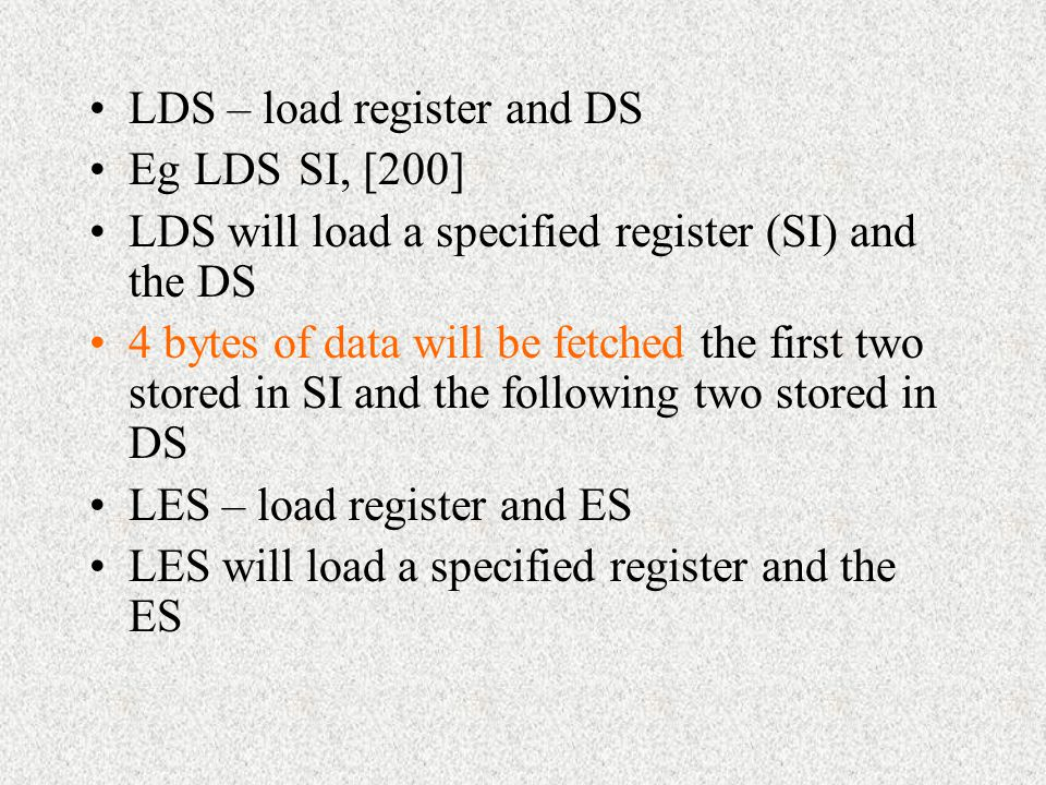 LDS – load register and DS