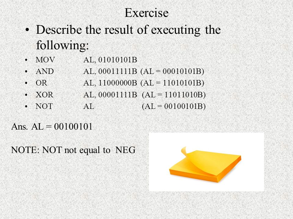 Describe the result of executing the following: