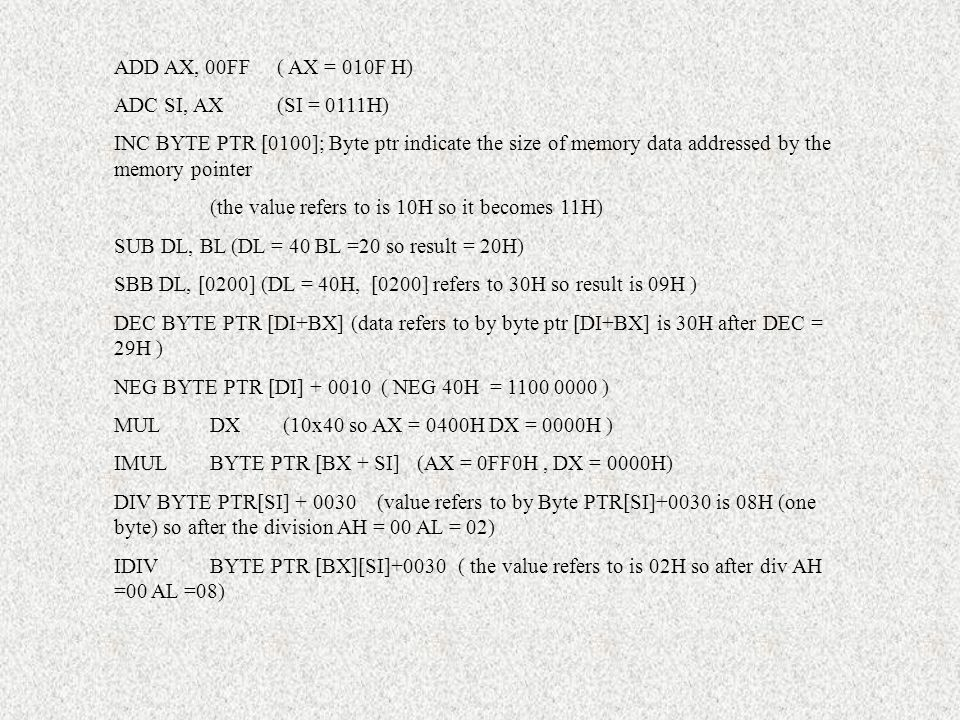 Assembly language programming - ppt download
