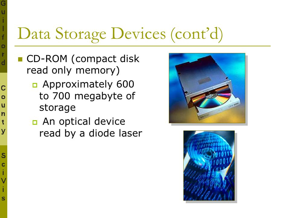 Data Storage Devices (cont'd)