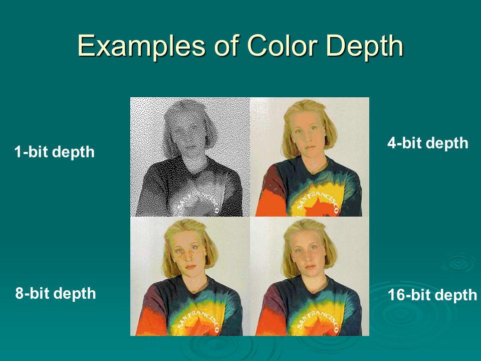 Examples of Color Depth