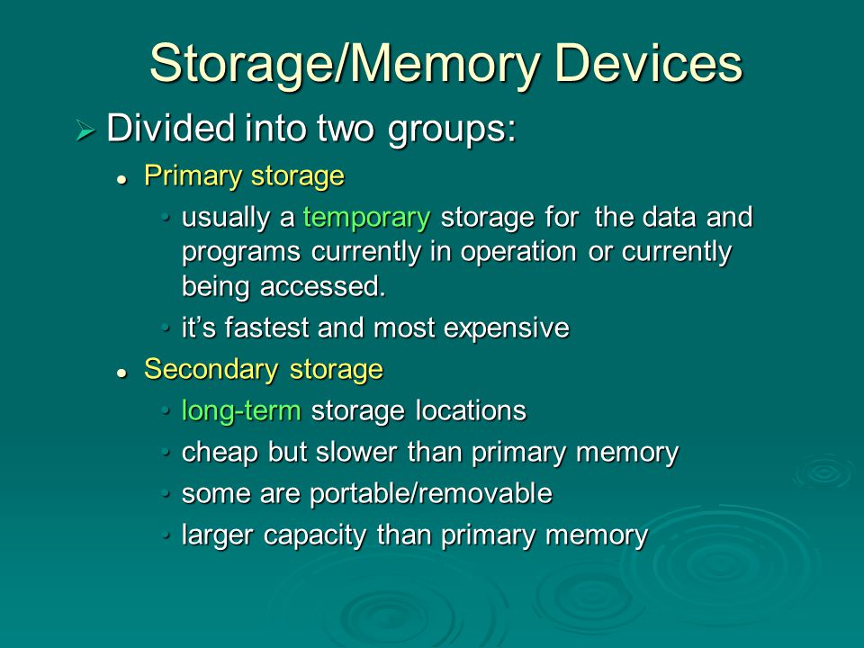 Storage/Memory Devices
