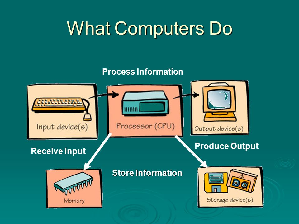 What Computers Do Process Information Produce Output Receive Input