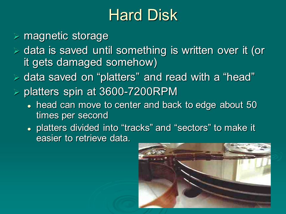 Hard Disk magnetic storage
