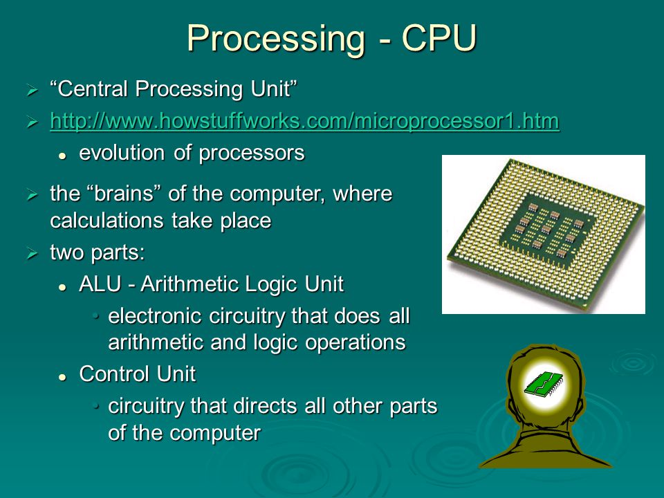 Processing - CPU Central Processing Unit
