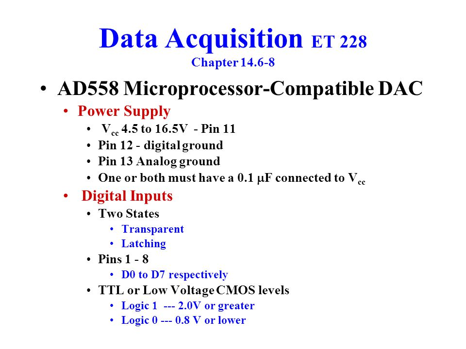 Data Acquisition ET 228 Chapter 14.6-8