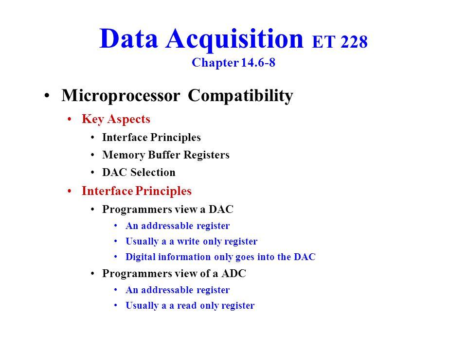 Data Acquisition ET 228 Chapter 14.6-8