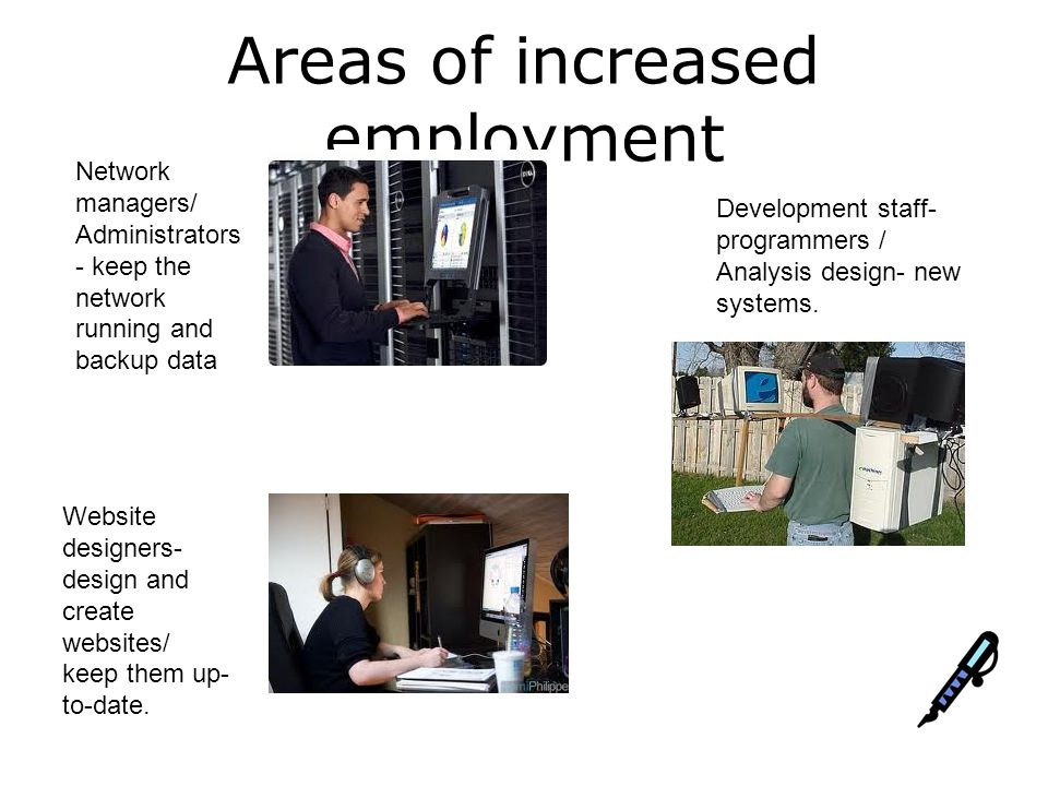 Areas of increased employment