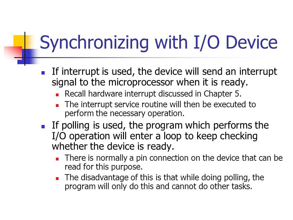 Synchronizing with I/O Device