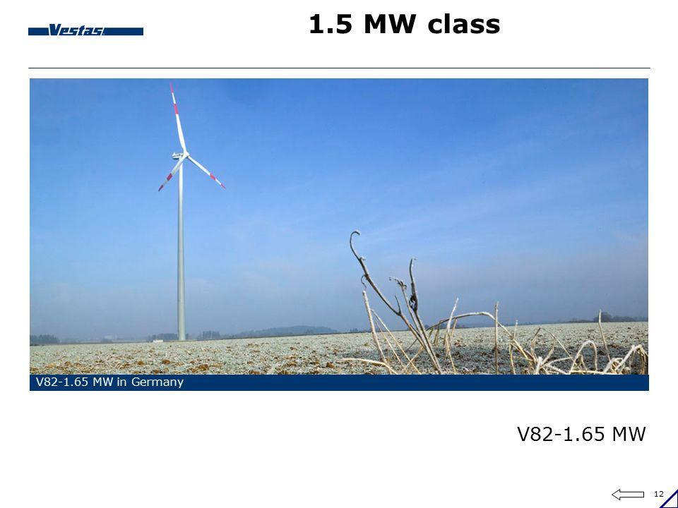 1.5 MW class V82-1.65 MW in Germany V82-1.65 MW