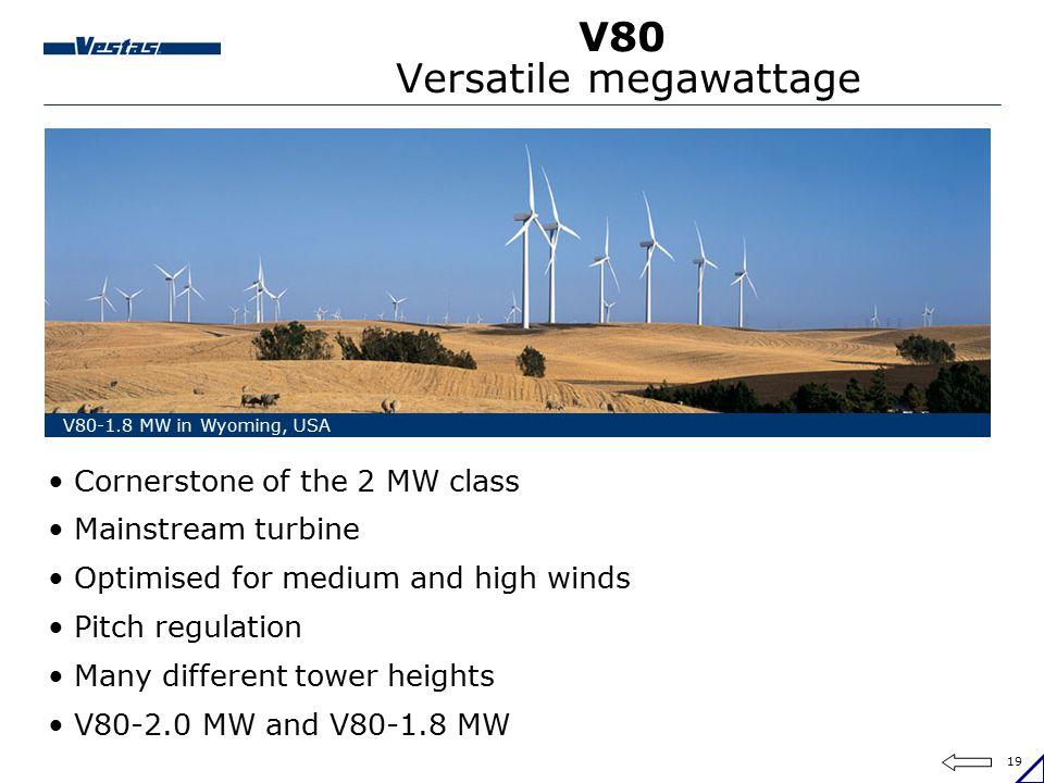 V80 Versatile megawattage