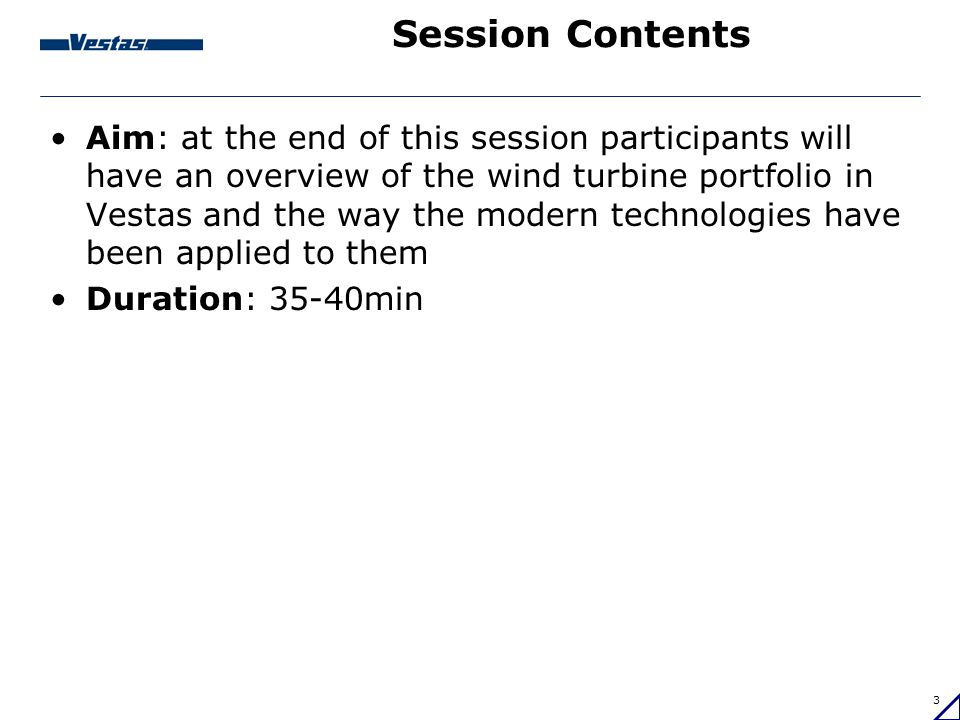 Session Contents
