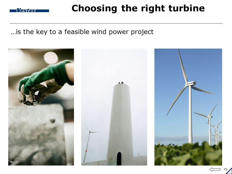 Choosing the right turbine