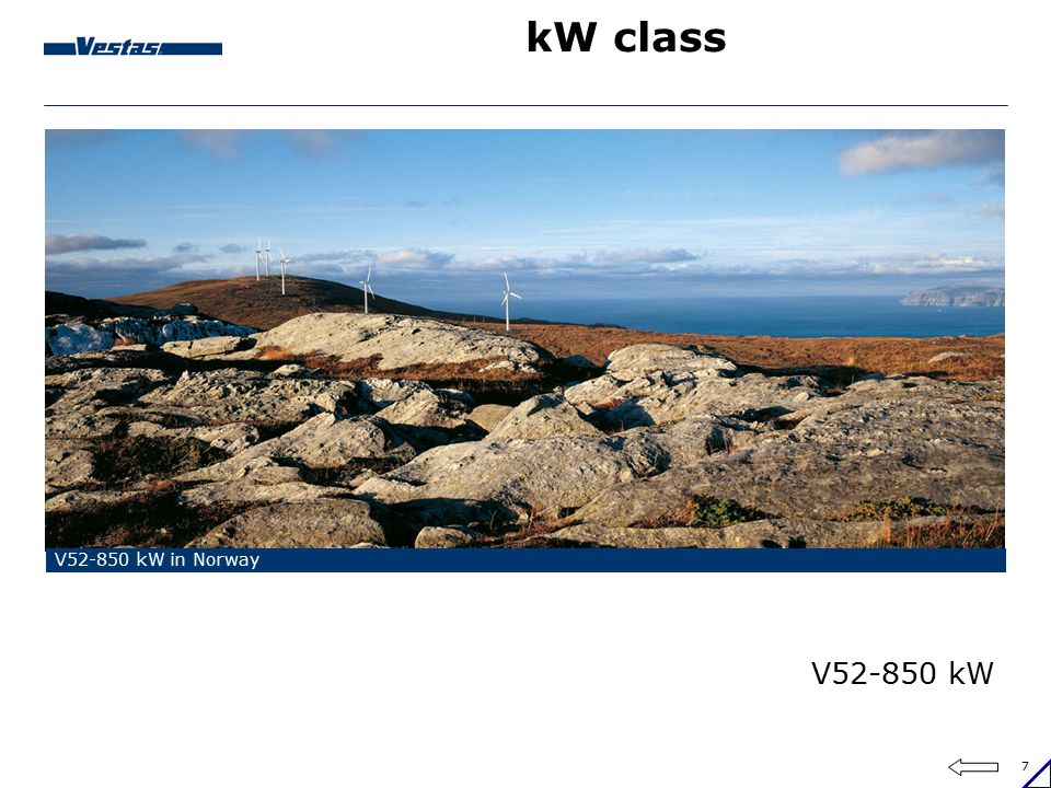 kW class V52-850 kW in Norway V52-850 kW
