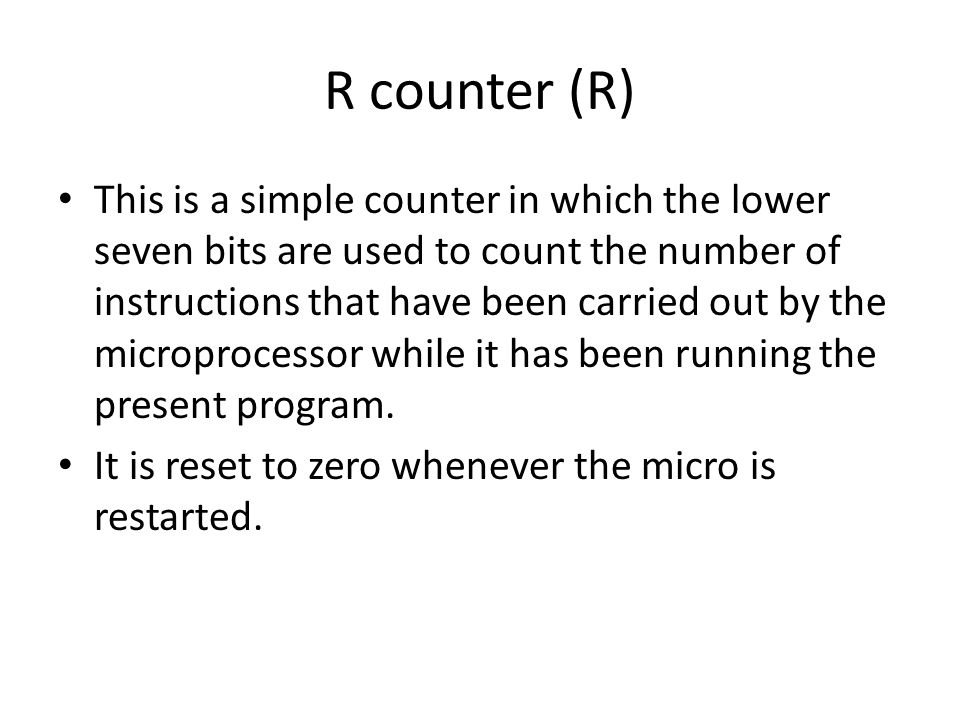R counter (R)