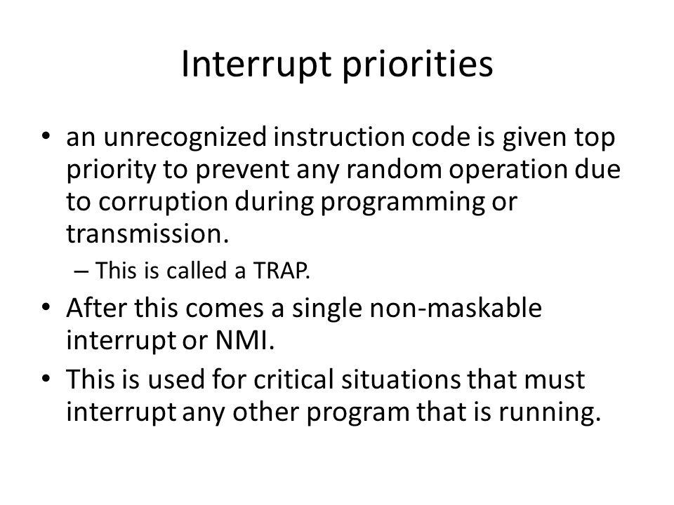Interrupt priorities