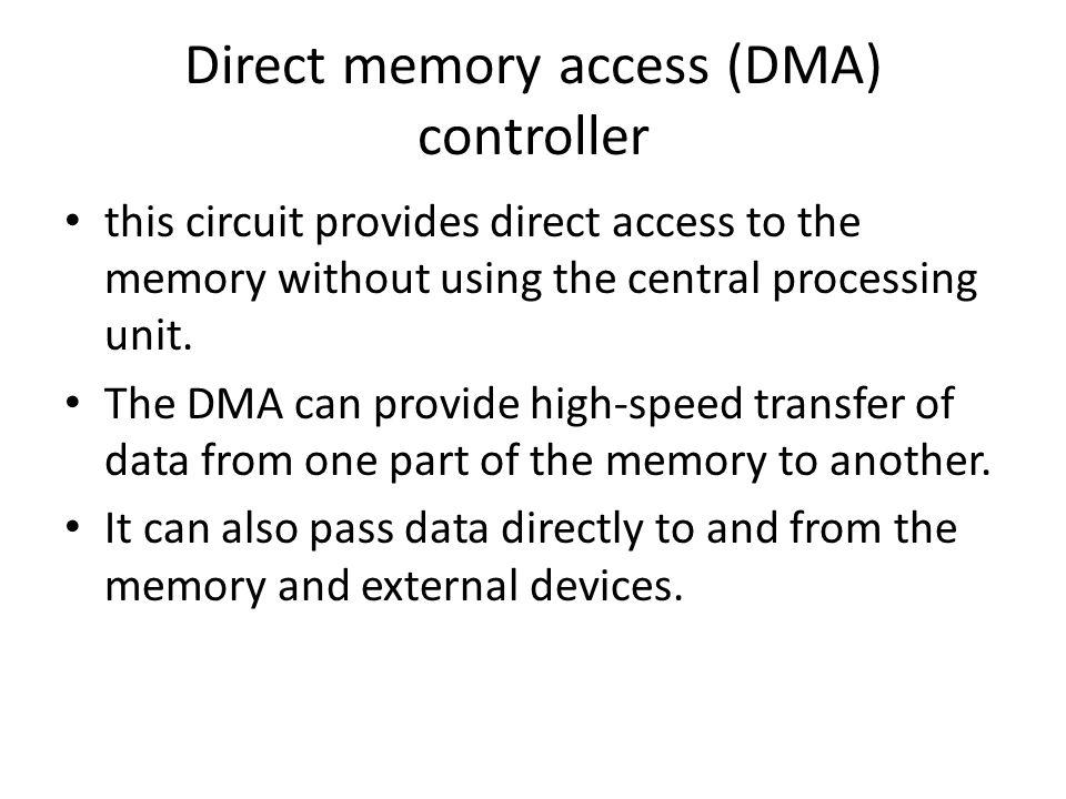 Direct memory access (DMA) controller