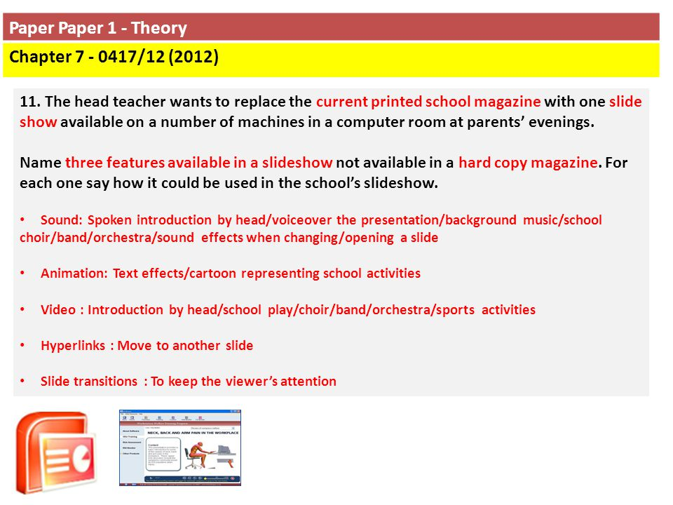 Paper Paper 1 - Theory Chapter 7 - 0417/12 (2012)