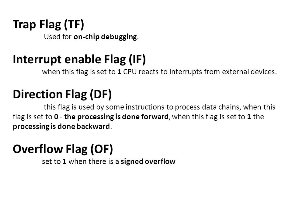 Interrupt enable Flag (IF)