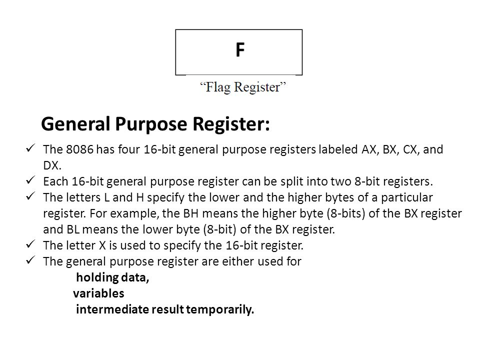 General Purpose Register: