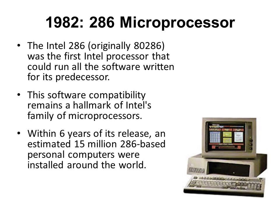 1982: 286 Microprocessor