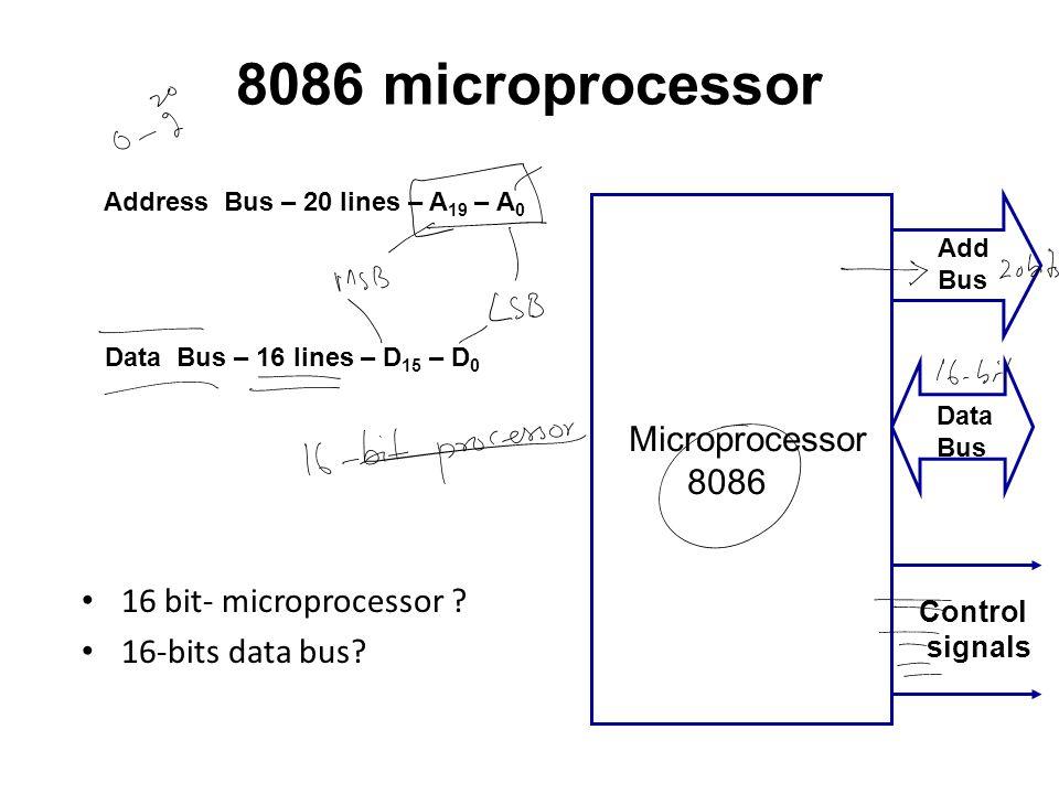 8086 microprocessor Microprocessor 8086 16 bit- microprocessor