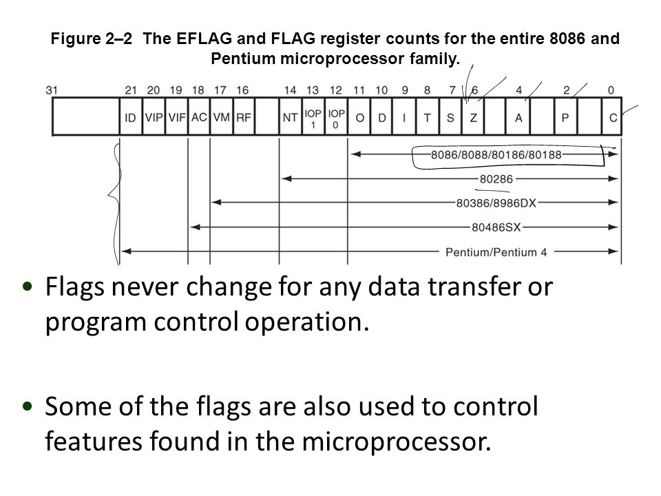 Flags never change for any data transfer or program control operation.