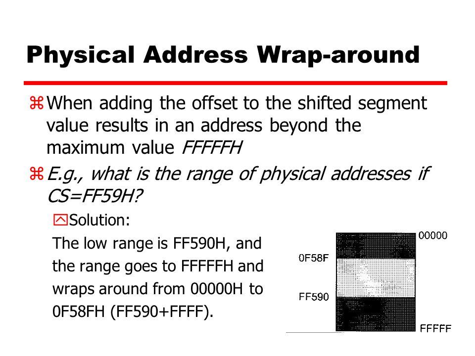Physical Address Wrap-around