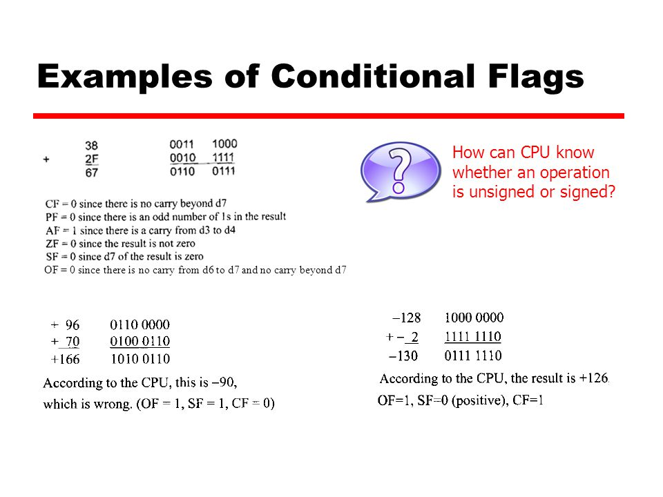 Examples of Conditional Flags