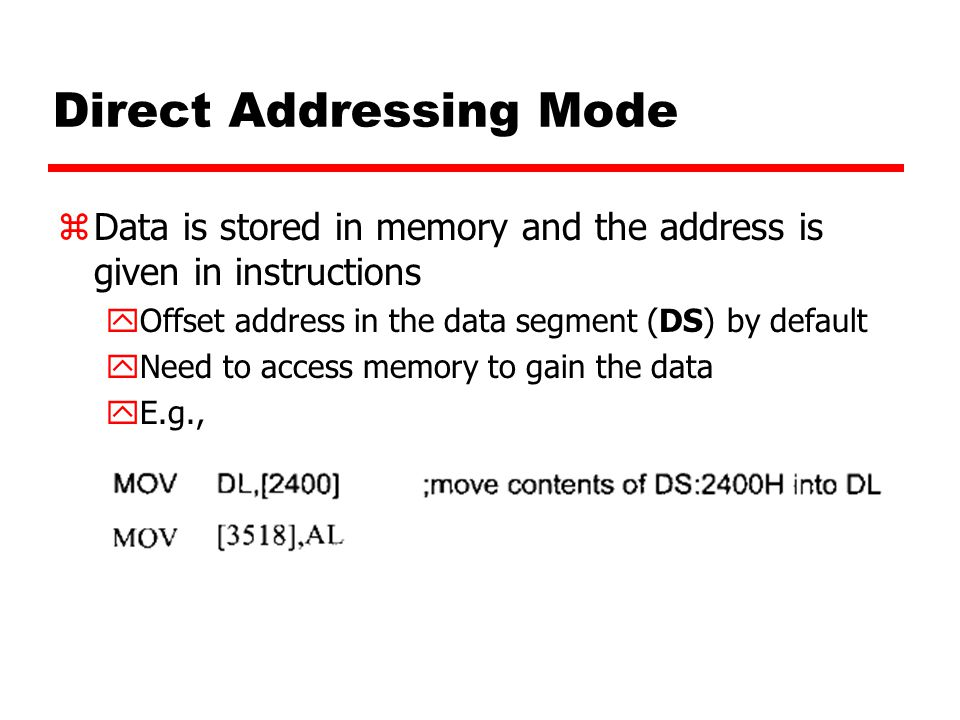 Direct Addressing Mode