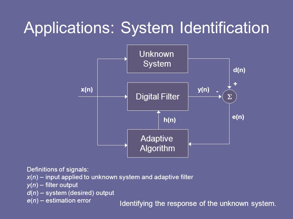 Applications: System Identification