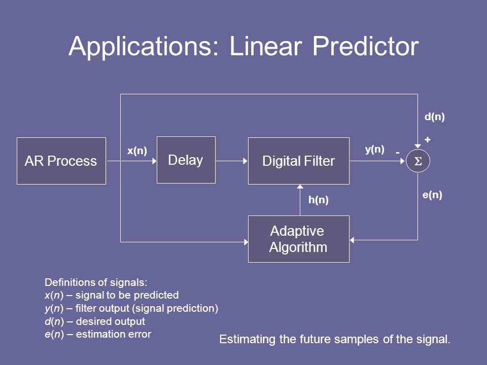 Applications: Linear Predictor
