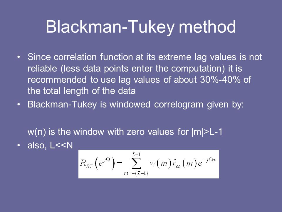 Blackman-Tukey method