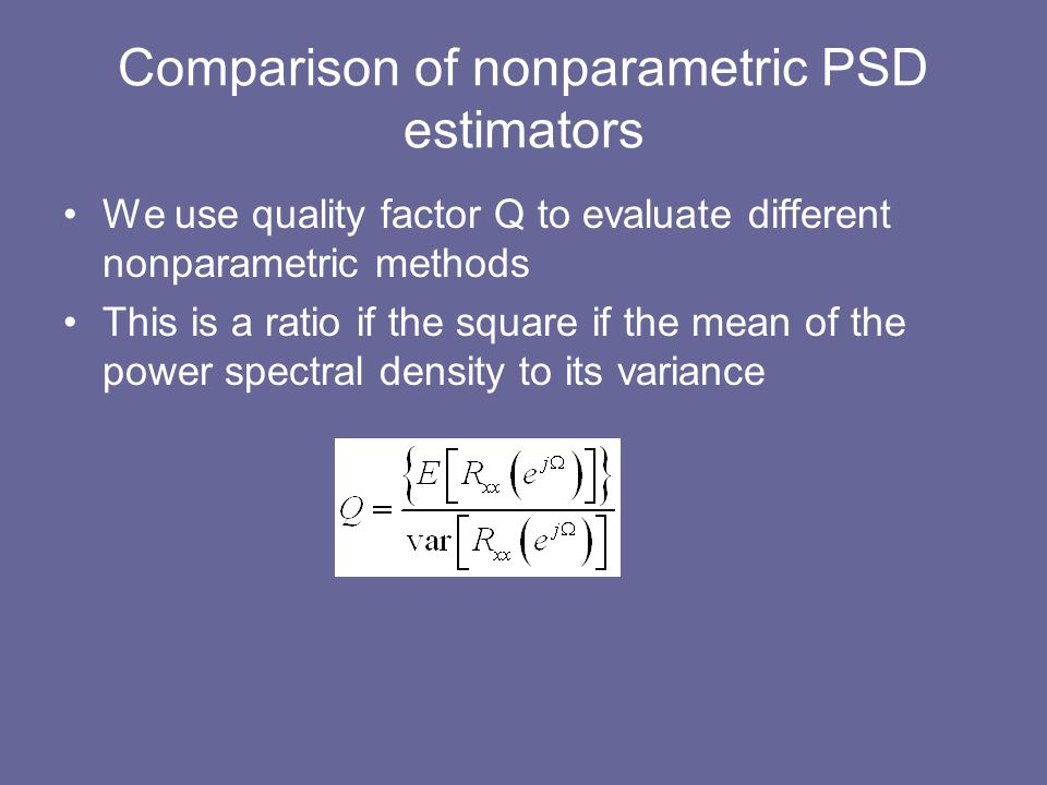 Comparison of nonparametric PSD estimators
