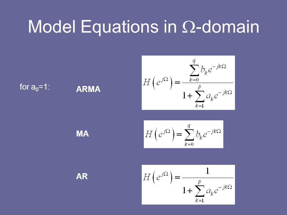 Model Equations in W-domain