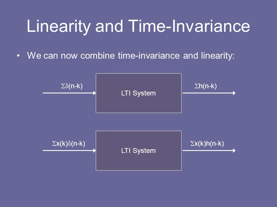 Linearity and Time-Invariance