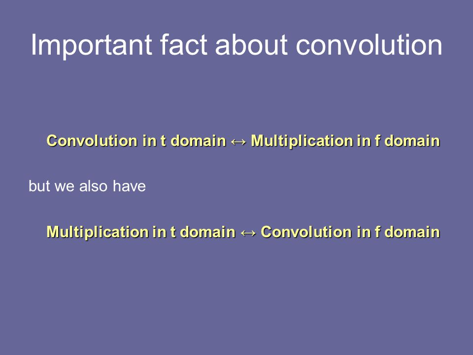 Important fact about convolution