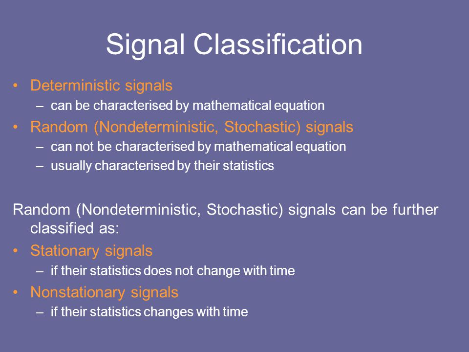 Signal Classification