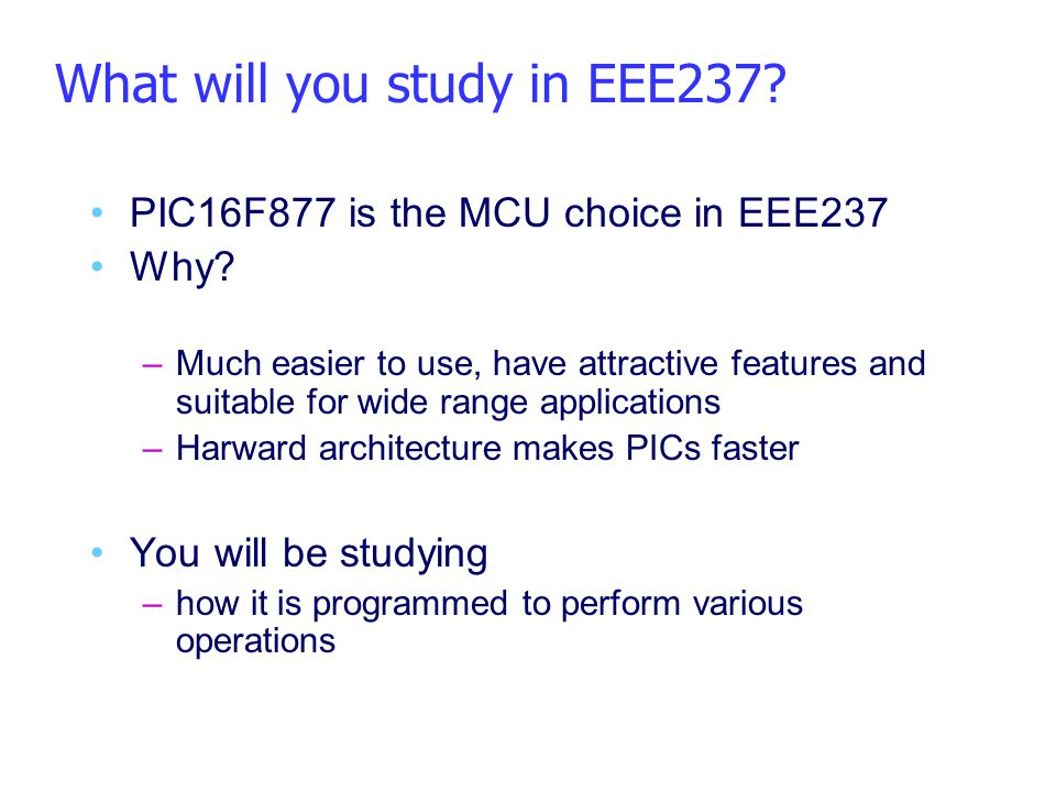 What will you study in EEE237